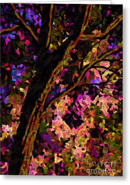 Greeting Card featuring the painting Touch Of Pink by Steven Lebron Langston
