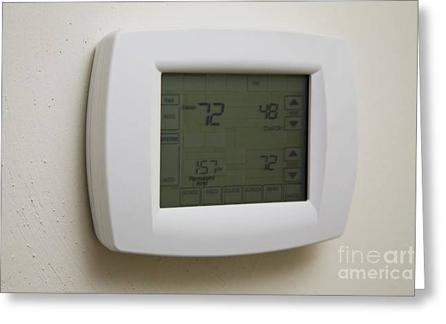 Touch Screen Thermostat Greeting Card by Roberto Westbrook