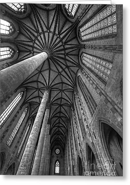 Greeting Card featuring the photograph Toulouse Columns High II by Jack Torcello