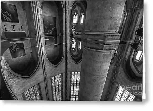 Greeting Card featuring the photograph Toulouse Reflections I by Jack Torcello