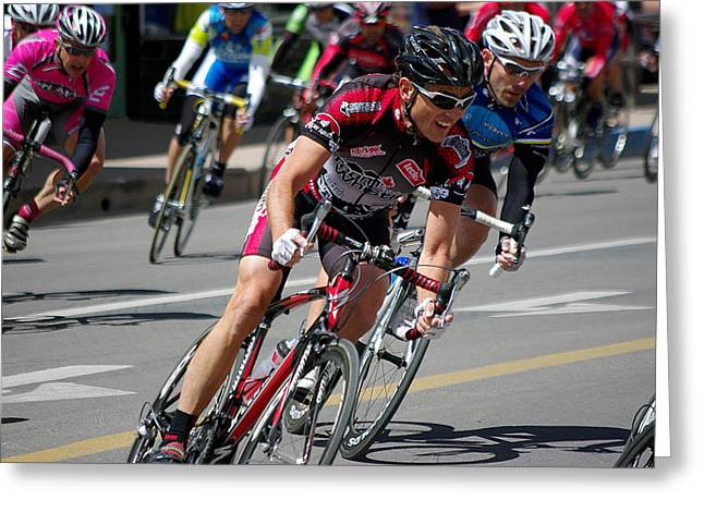Greeting Card featuring the photograph Tour Of The Gila - Criterium  by Vicki Pelham