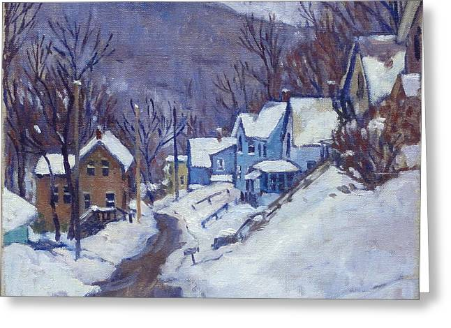 Toward Vermont Winter Greeting Card by Thor Wickstrom