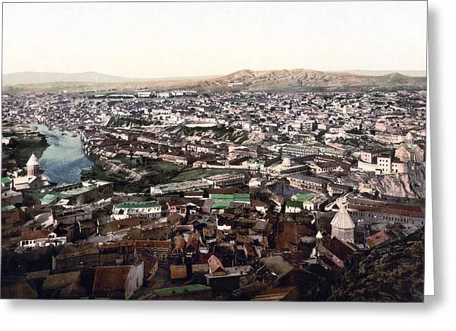 Towards The Megectski Castle - Tbilisi Georgia Greeting Card by International  Images