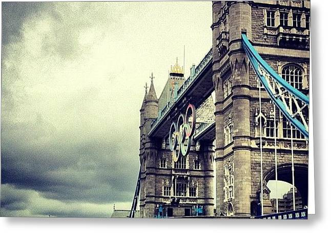 Tower Bridge 2012 Greeting Card by Samuel Gunnell
