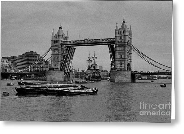 Tower Bridge And The Endeavor Greeting Card by Aldo Cervato