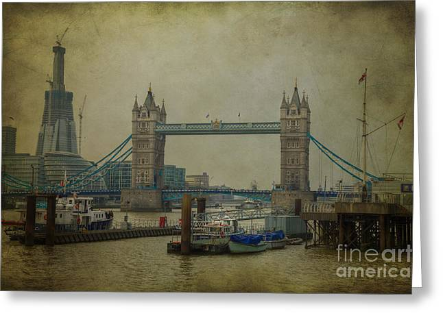 Tower Bridge. Greeting Card by Clare Bambers