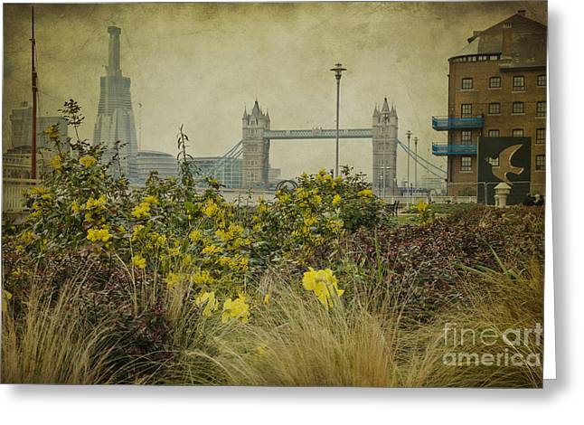 Tower Bridge In Springtime. Greeting Card by Clare Bambers