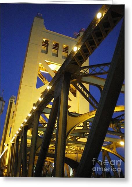 Tower Bridge Greeting Card by Linda Battles