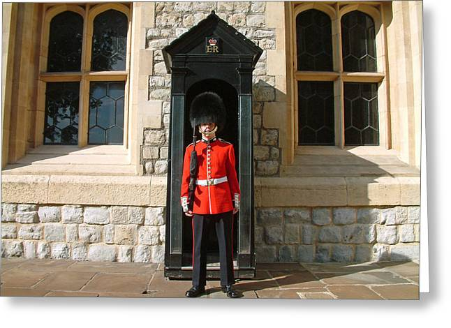 Tower Guard London England Greeting Card