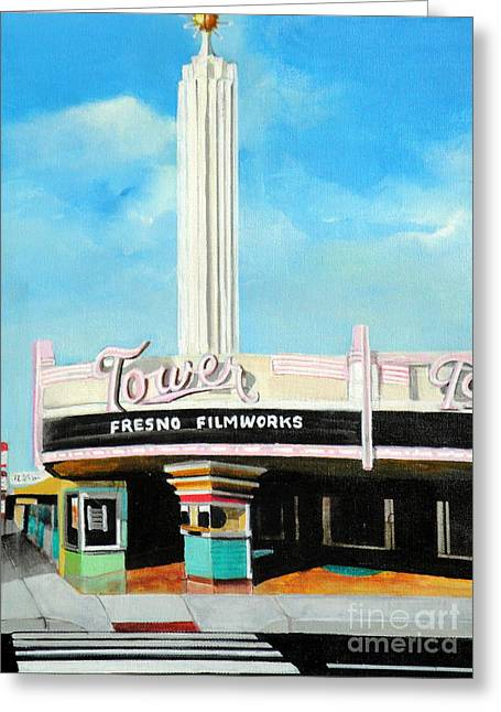 Tower Theater Fresno Greeting Card