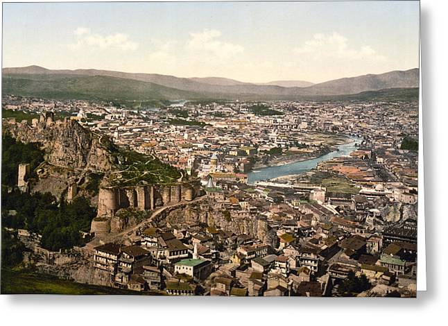 Town Fortress In Tbilisi - Georgia Greeting Card by International  Images