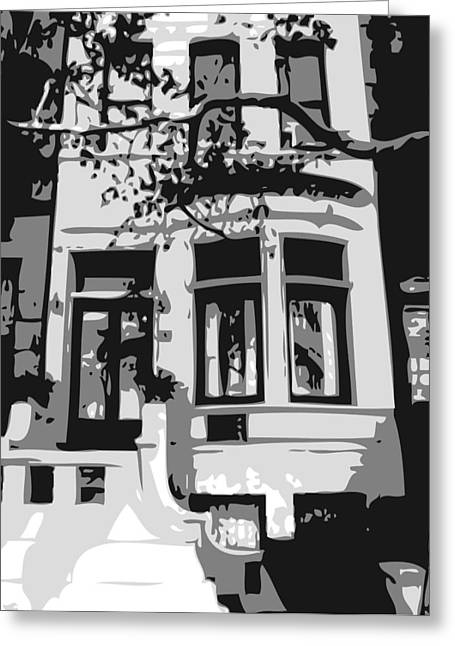 Townhouse Bw3 Greeting Card by Scott Kelley