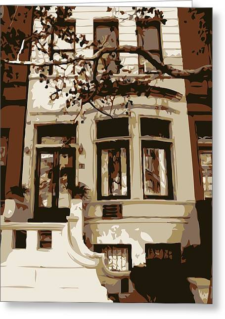 Townhouse Color 6 Greeting Card