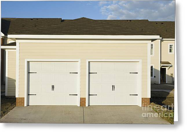 Townhouse Garages Greeting Card