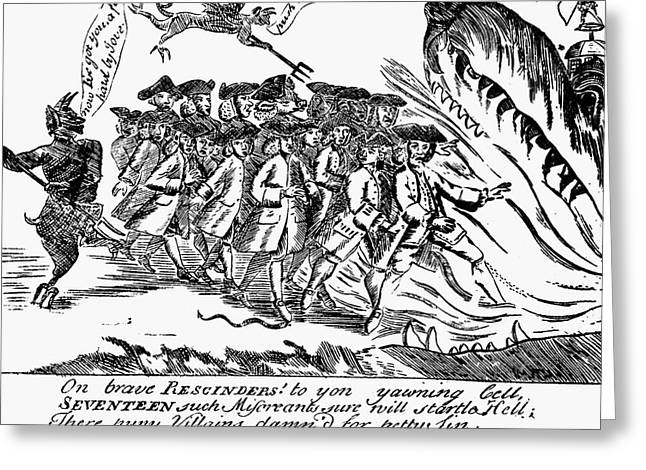 Townsend Act Cartoon, 1768 Greeting Card by Granger