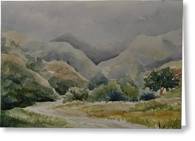 Towsley Canyon Morning Greeting Card