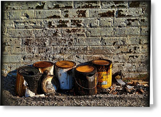 Toxic Alley Grunge Art Greeting Card by Kathy Clark