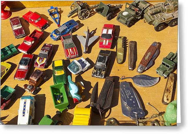 Toy Cars Greeting Card by Michael Clarke JP