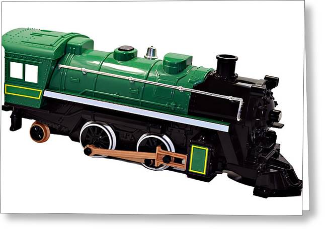 Toy Engine Greeting Card by Susan Leggett