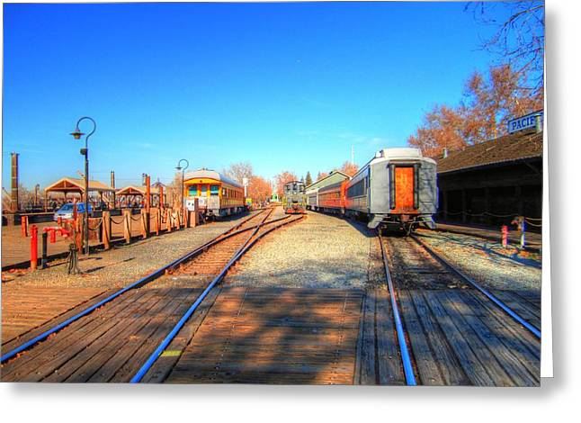 Tracks Along The River-hdr Greeting Card by Barry Jones