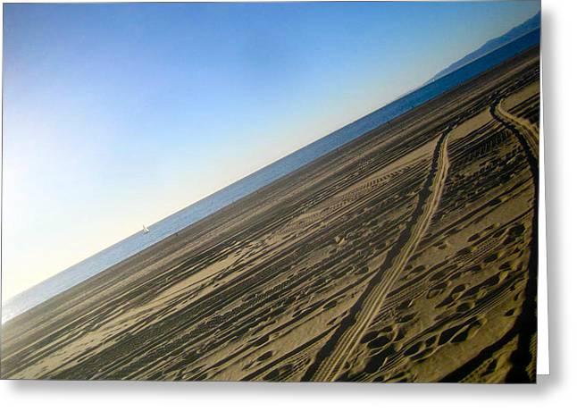 Tracks Greeting Card by Jon Berry OsoPorto