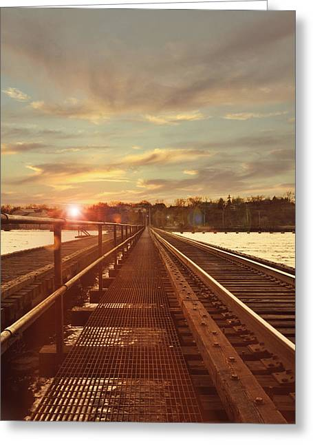 Tracks To Greatness Greeting Card by Joel Witmeyer