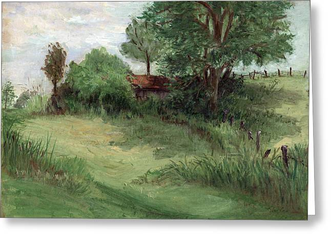 Tractor Shed Greeting Card by Ethel Vrana