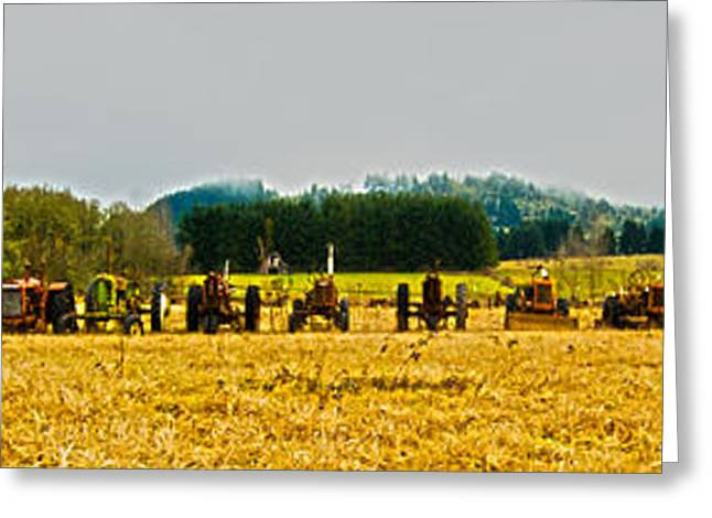 Tractors Ready Greeting Card by Dale Stillman