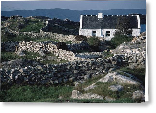 Traditional Cottage, Co Galway, Ireland Greeting Card