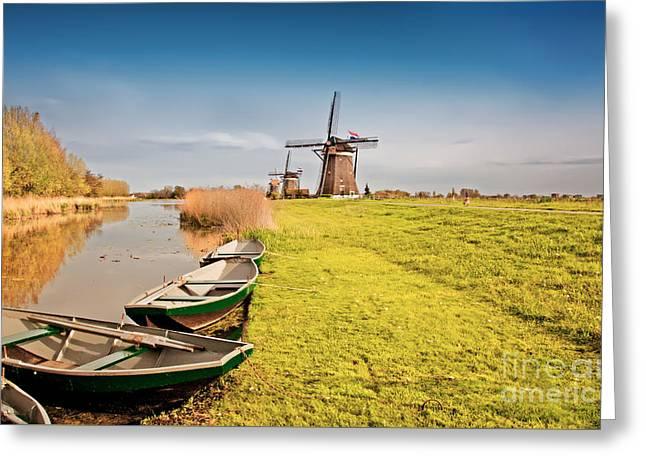 Traditional  Dutch Landscape Greeting Card