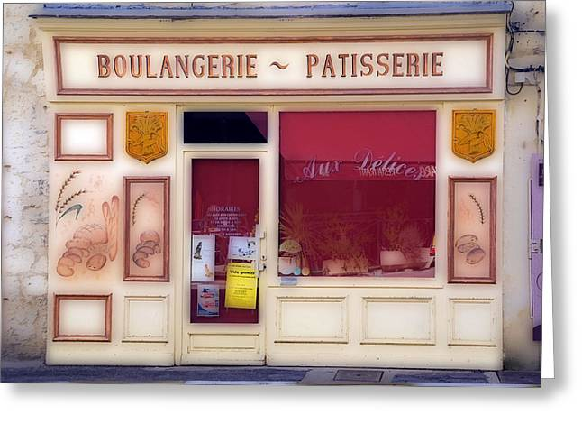 Greeting Card featuring the photograph Traditional French Shop by Rod Jones