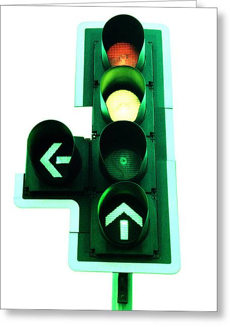Traffic Lights Greeting Card by Kevin Curtis
