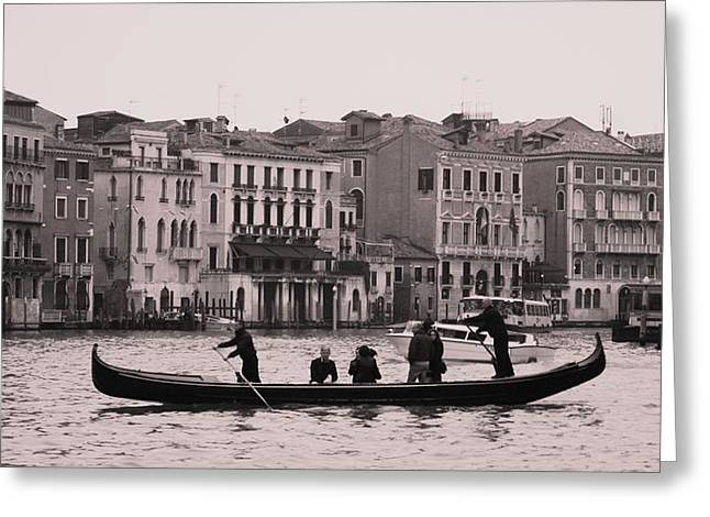 Traghetto Venice Greeting Card by Luis and Paula Lopez