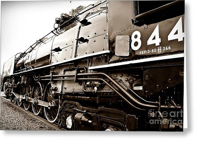 Train 844 Stopped Greeting Card by Joseph Porey