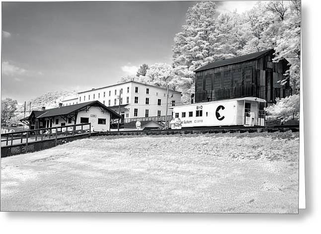 Greeting Card featuring the photograph Train Depot by Mary Almond