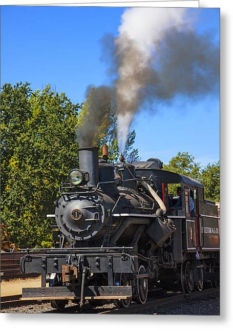 Train Number One Greeting Card by Garry Gay