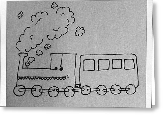 Train Says Don't Smoke. #train #smoke Greeting Card