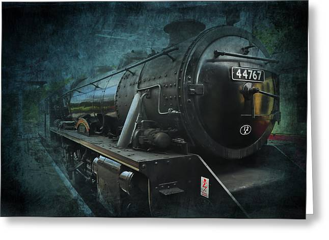 Train Greeting Card by Svetlana Sewell