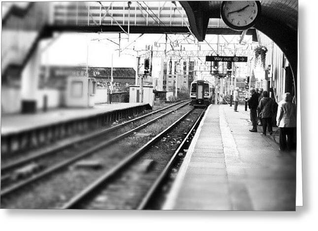 #train #trainstation #station Greeting Card