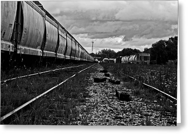 Greeting Card featuring the photograph Train Yard by Randall  Cogle