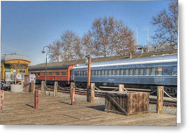 Trains Greeting Card by Barry Jones