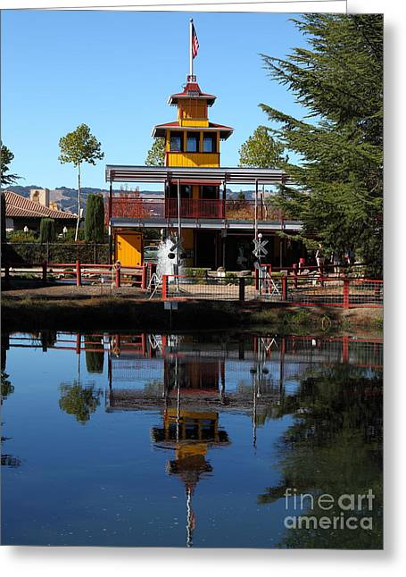 Traintown Sonoma California - 5d19218 Greeting Card