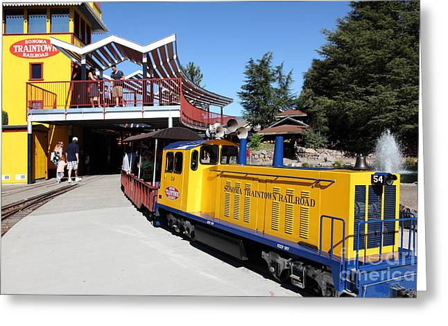 Traintown Sonoma California - 5d19236 Greeting Card by Wingsdomain Art and Photography