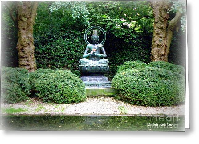 Tranquil Buddha Greeting Card by Lainie Wrightson