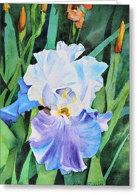 Tranquil Greeting Card by Kathy Nesseth