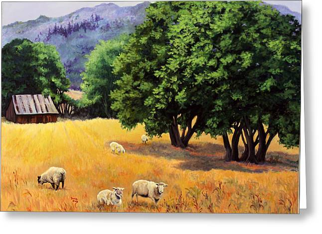 Tranquil Pastures Greeting Card