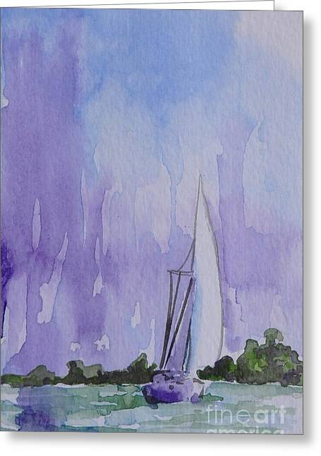 Tranquility Greeting Card by Gretchen Bjornson