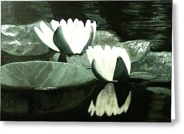 Tranquility Greeting Card by Melissa Torres