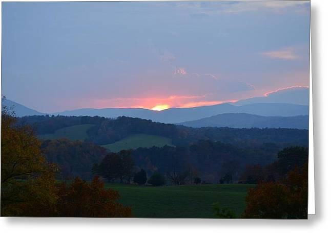 Tranquill Sunset Greeting Card