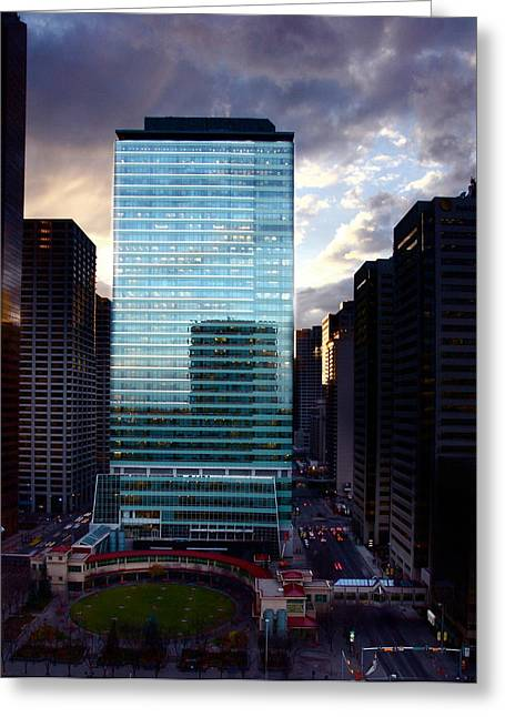 Greeting Card featuring the photograph Transcanada Tower by JM Photography